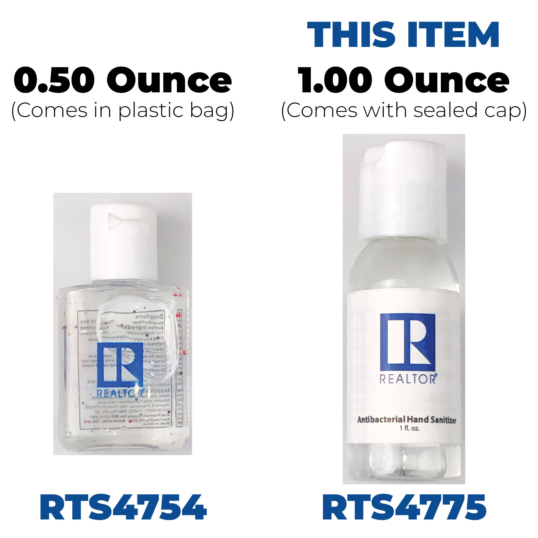 In Stock: 1 Oz Hand Sanitizer - RTS4775