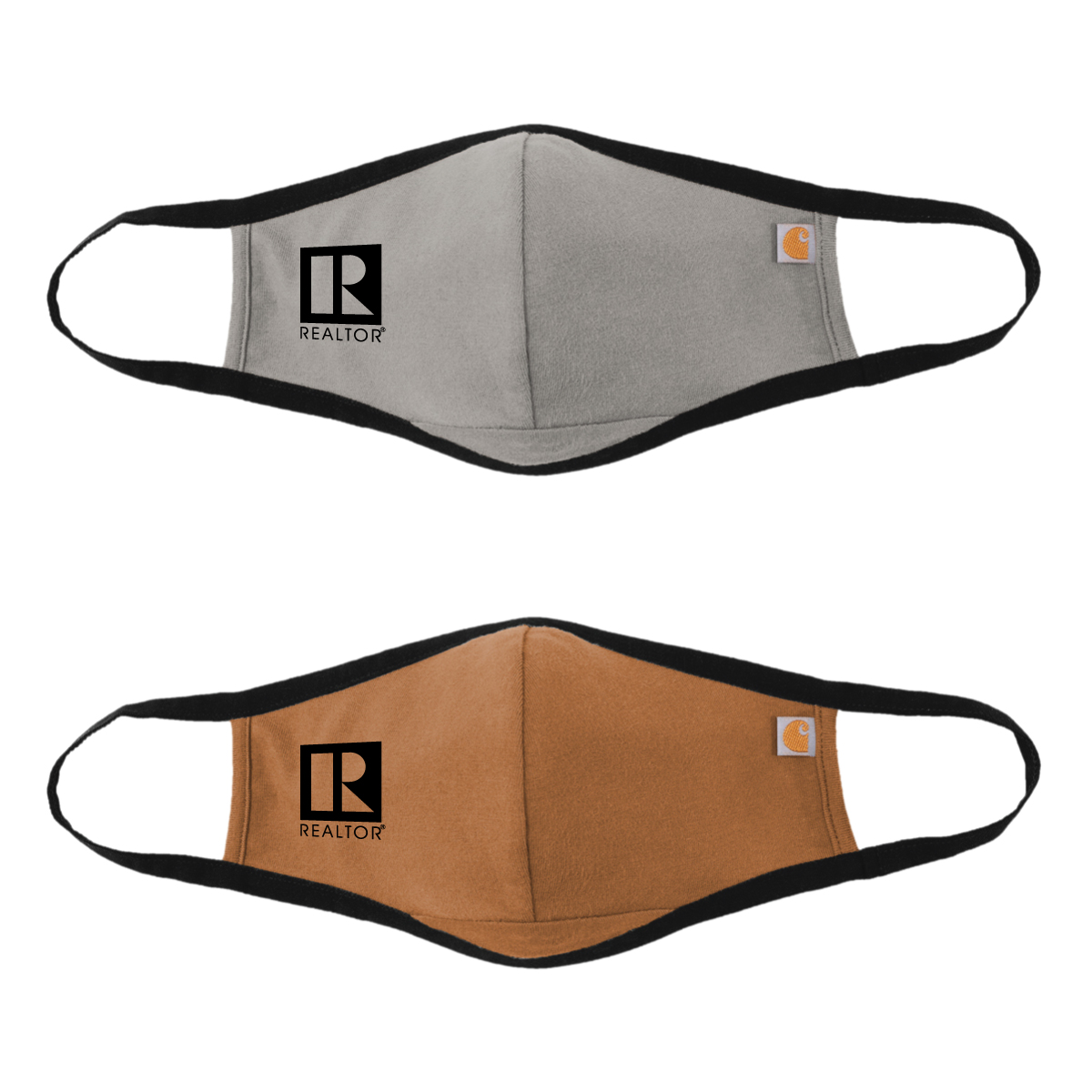 Special Order: Carhartt® 2 Layer Mask (Grey or Brown) Faces,Masks,Shields,COVID,COVID-19,SARS,Virus,Viruses,Coughs,Safety,Carhart,Car,Hart