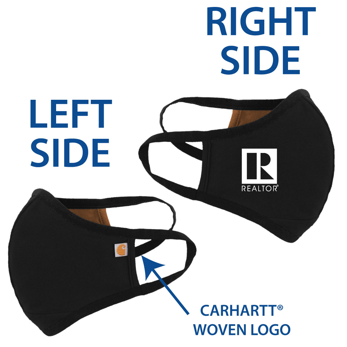 In Stock: Black Carhartt® 2 Layer Mask - RTS4793