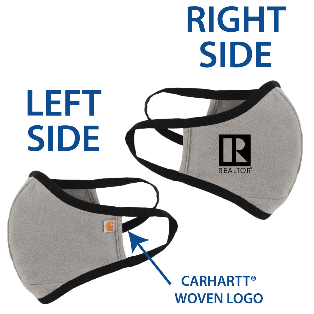 Special Order: Carhartt® 2 Layer Mask (Grey or Brown) - RTS4793-SO