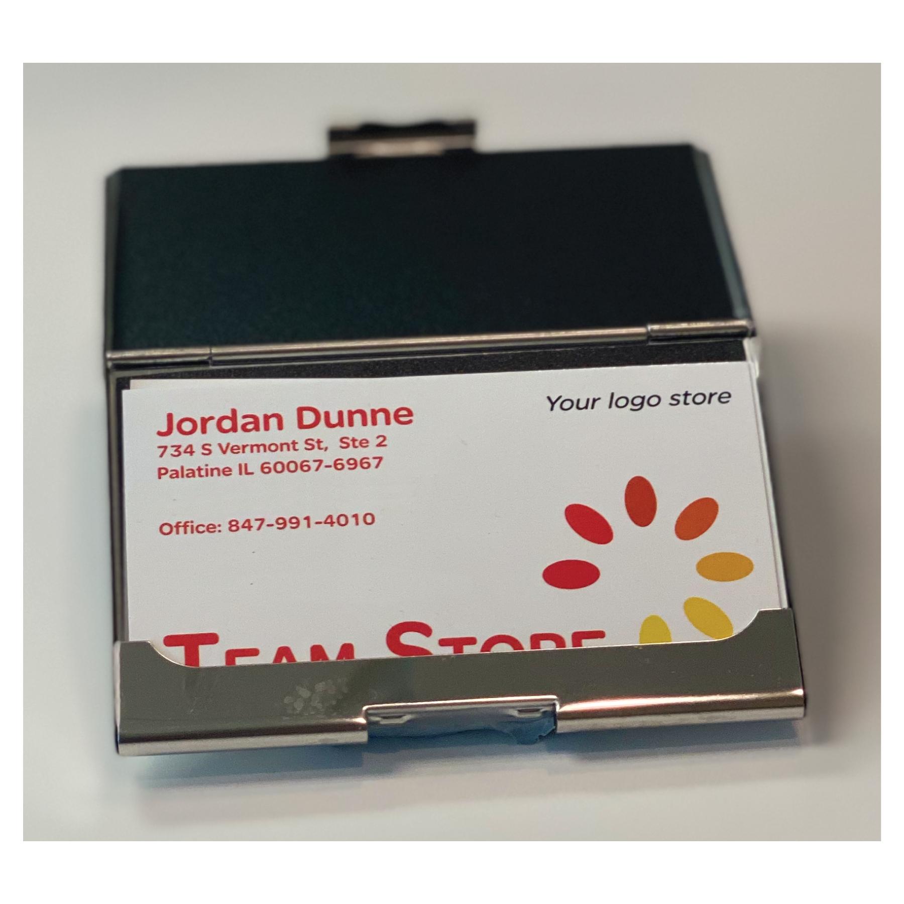 Hampton Blue & Chrome Card Case - RTS4908