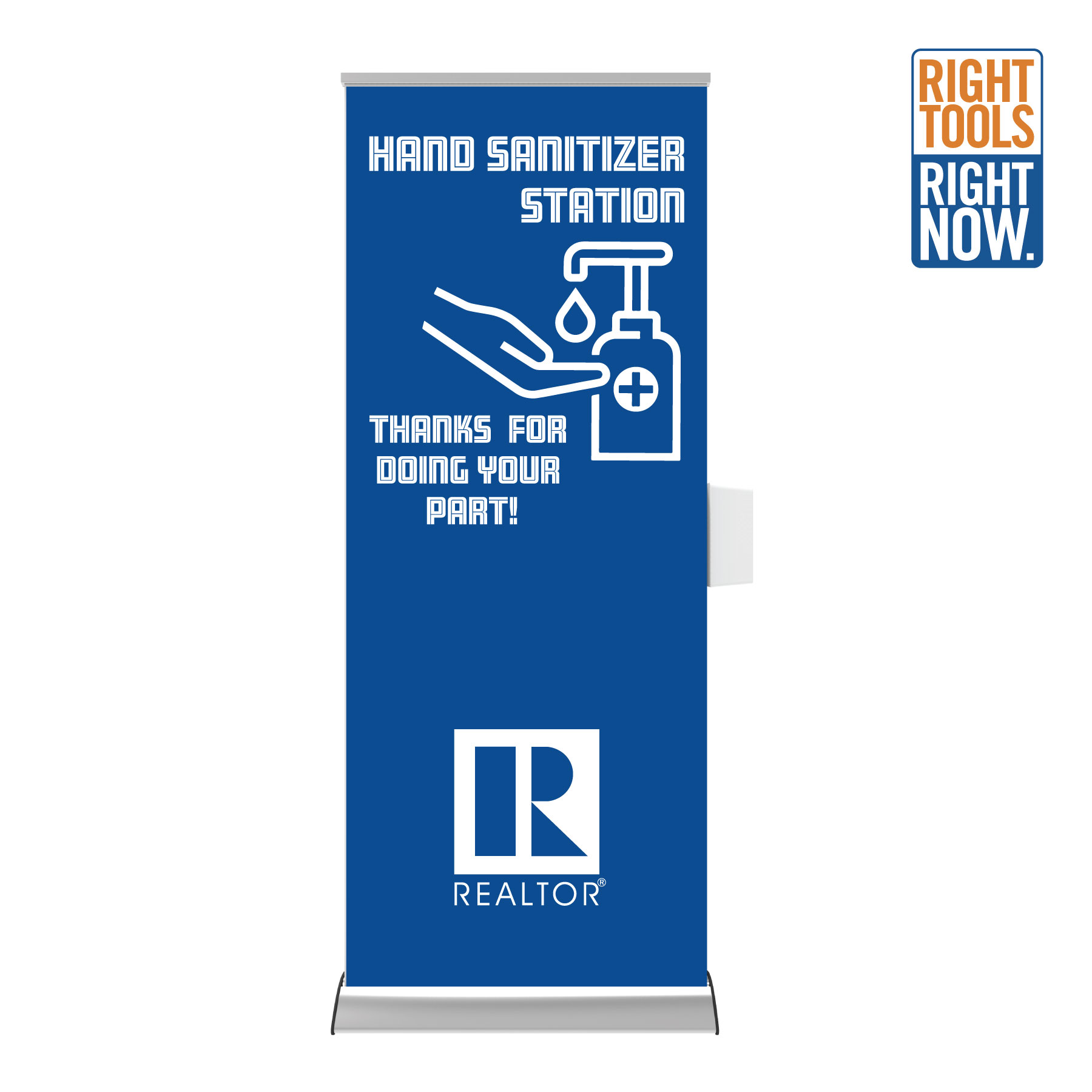 Made to Order: Banitizer - Retractable Banner with Sanitizer Dispenser - RTS4762