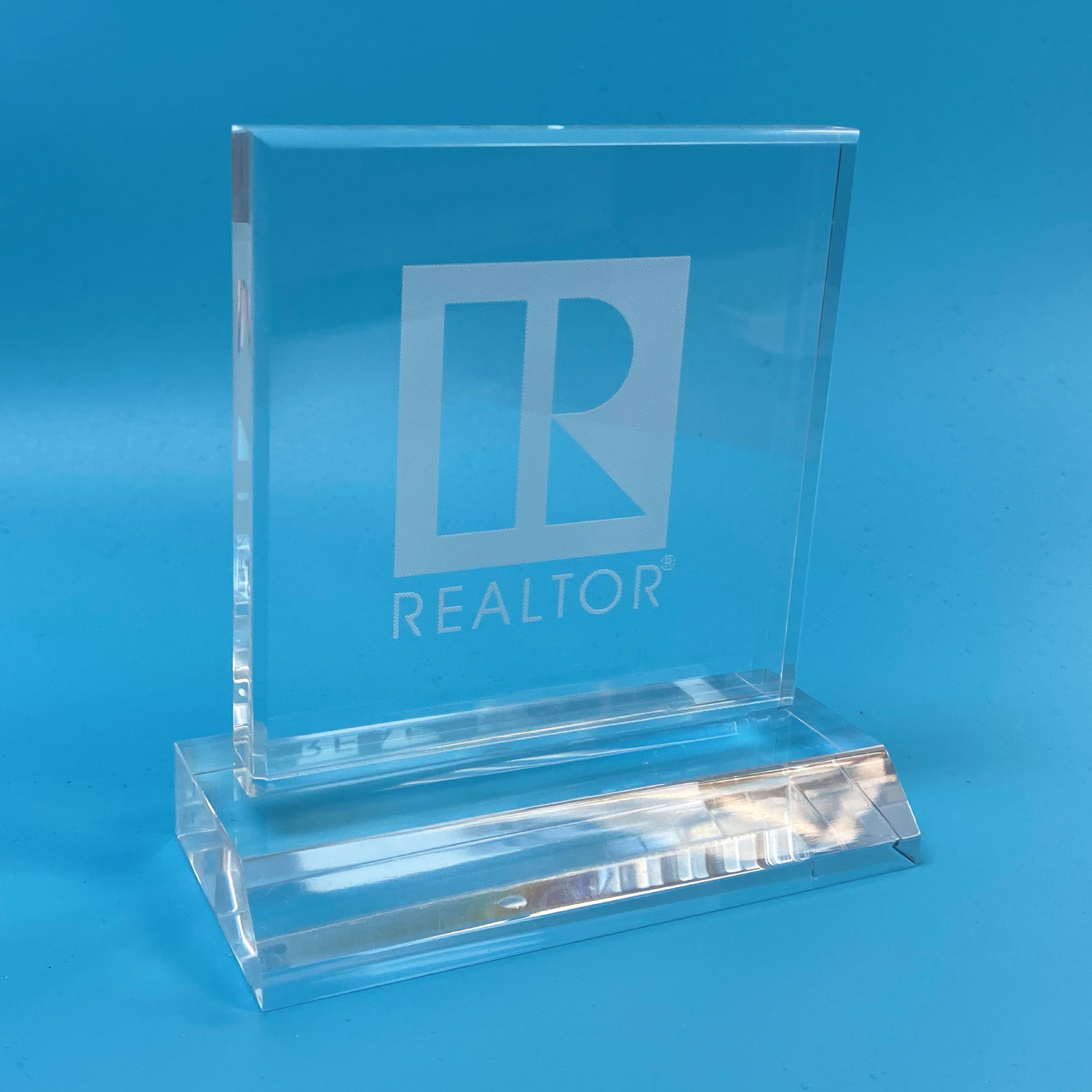 Selma Acrylic Desktop REALTOR® Logo Clear,Awards,Logos,Floating,