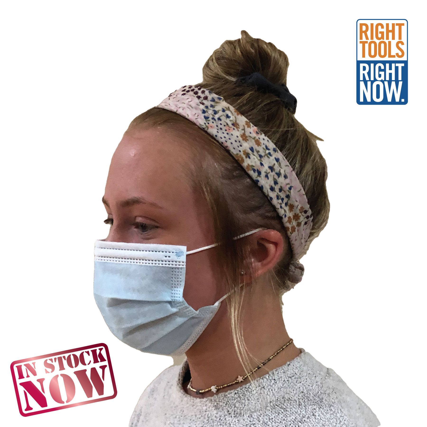 In Stock: Disposable 3-Ply Mask - 50 Pack Faces,Masks,Shields,COVID,COVID-19,SARS,Virus,Viruses,Coughs,Safety
