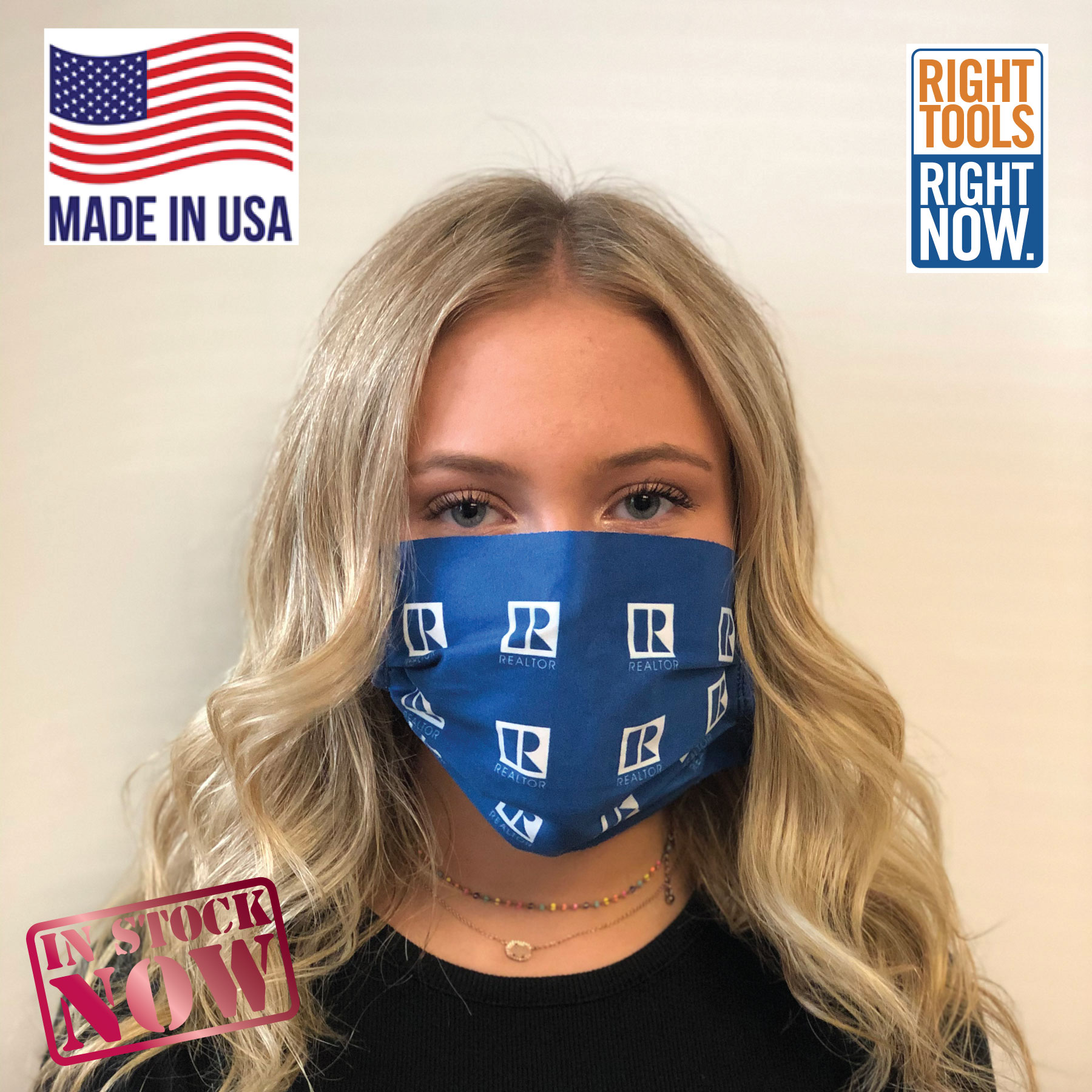 Pre-Order: Microfiber Face Mask with the REALTOR® Logo Faces,Masks,Shields,COVID,COVID-19,SARS,Virus,Viruses,Coughs,Safety
