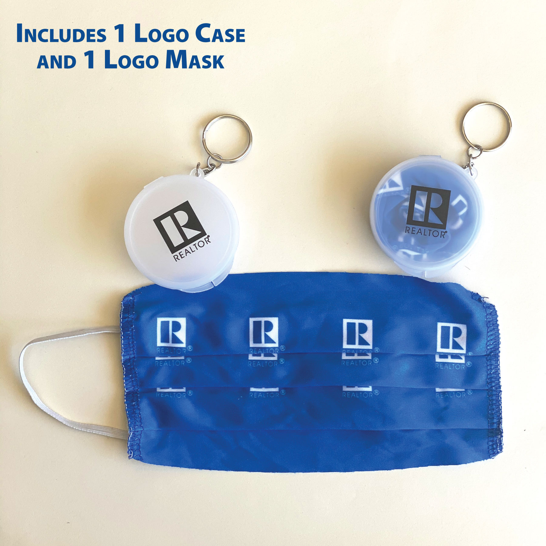 "In Stock: ""Keychain Pack"" Microfiber Face Mask with the REALTOR® Logo - RTS4786"