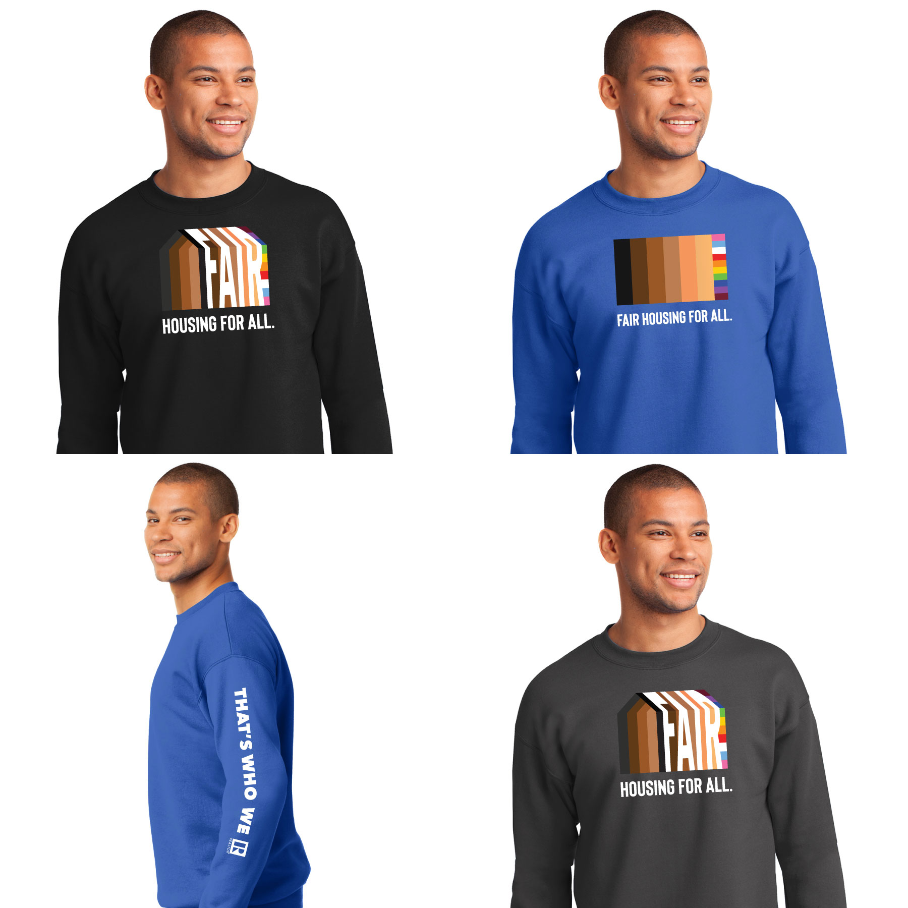 Fair Housing Crewneck Sweatshirt Fairs,Housings,FairHousings,Houses,Equity,Equality,FH,Sweats