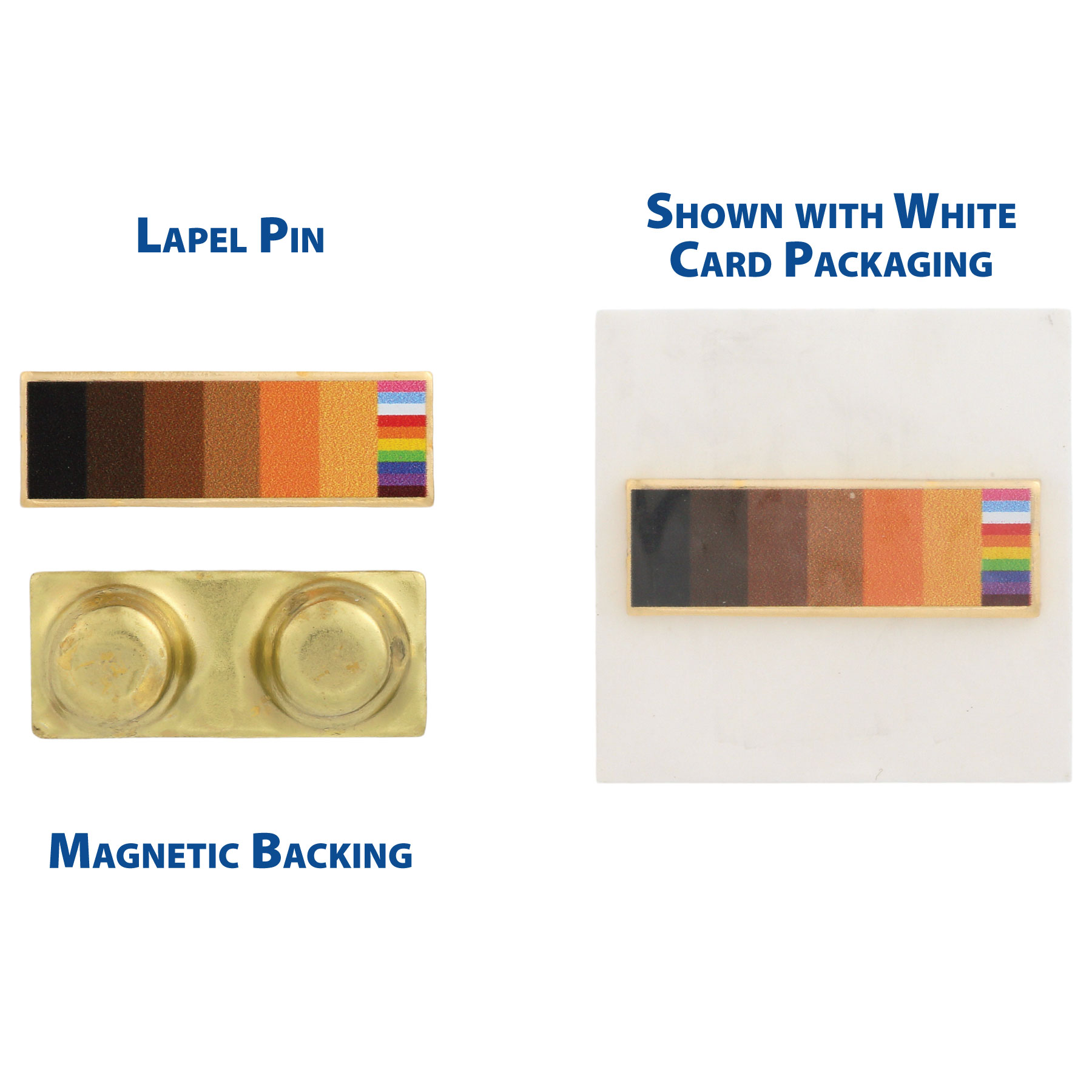 "Fair Housing ""Color Bars"" Lapel Pin - RTS3029"