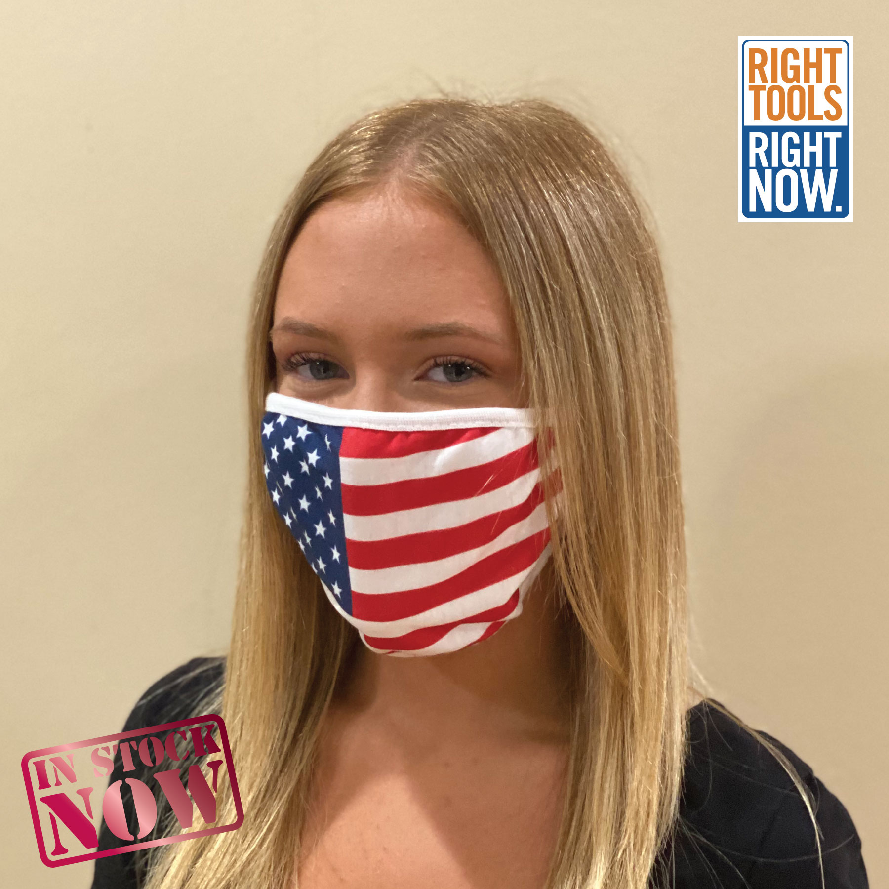 In Stock: 2 Layer USA Flag Mask Faces,Masks,Shields,COVID,COVID-19,SARS,Virus,Viruses,Coughs,Safety
