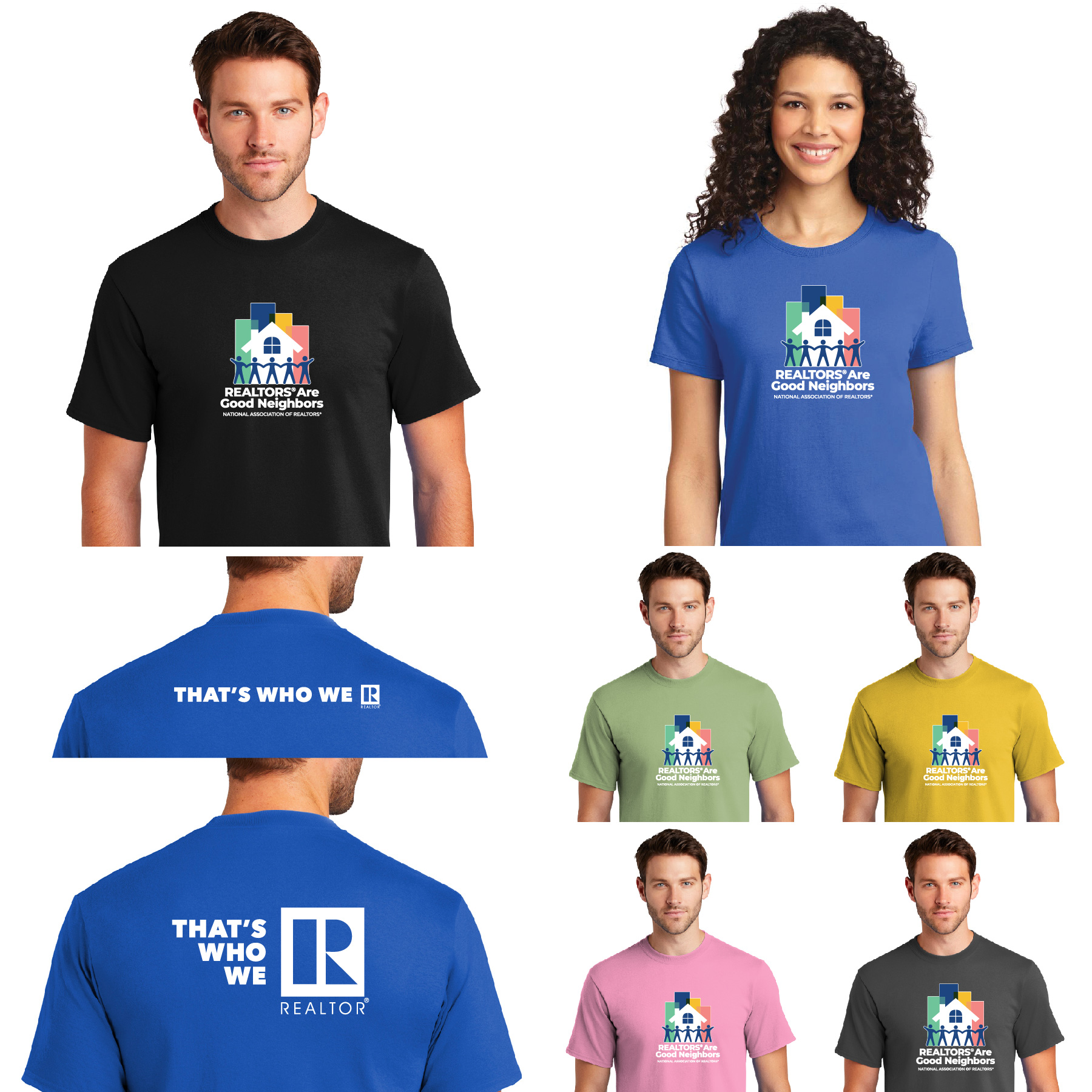 """REALTORS® Are Good Neighbors"" Tee Shirt Goods,neighbors,neghbors,nibors,Neighborhoods,GN,RGN"