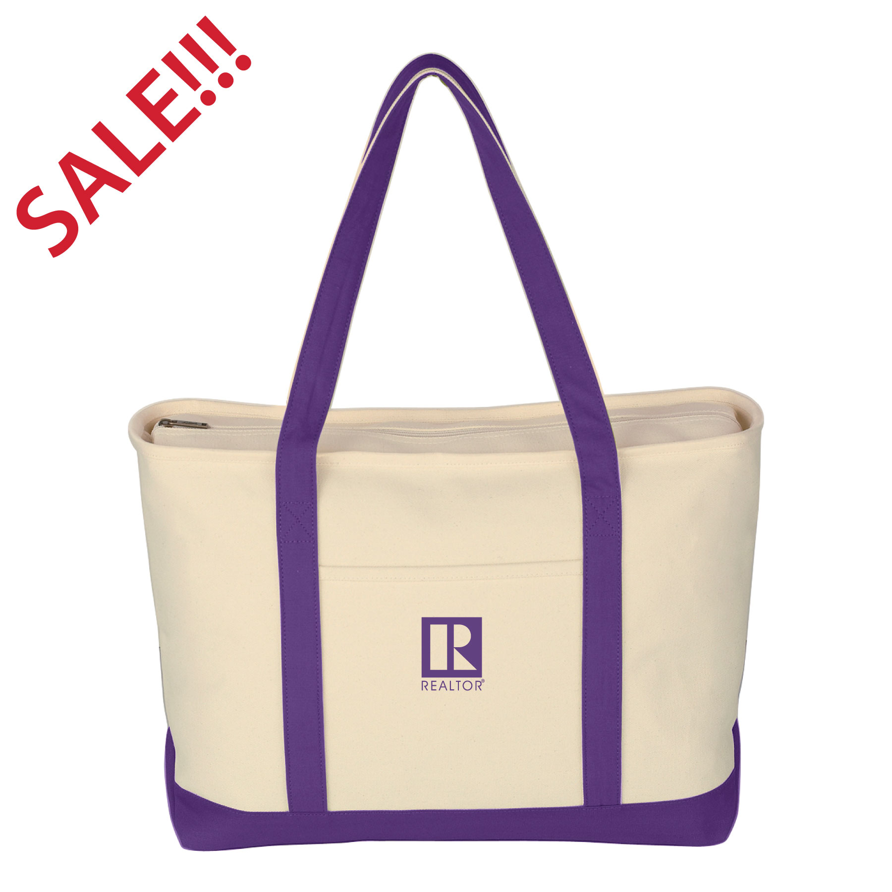 SALE - Heavy Duty XL Zippered Boat Tote TwwrSteps,Tote, Convention, Beach, Boat, Picnic, Carry, Bag, Gift, Bling, Large, XL, President. Association, Board