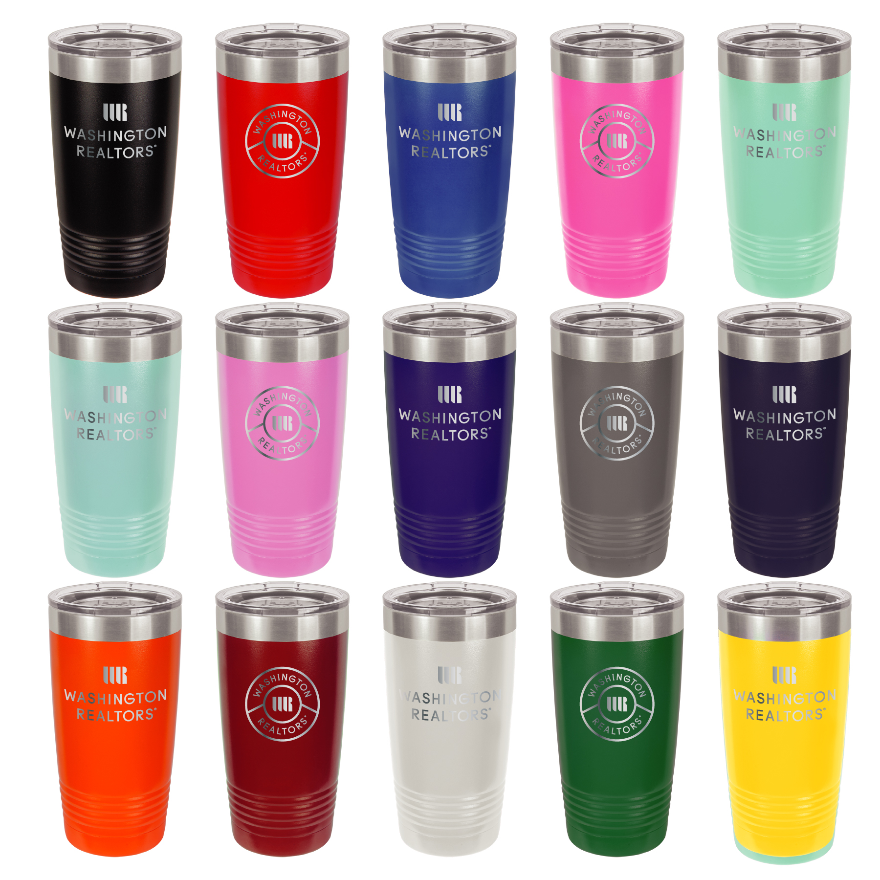 Washington REALTORS® Insulated 20 oz Tumbler with Lid Cups,Mugs,Tumblers,Drinks,Drinkwares,Yeti,Yetis,Copper,Insulated,Cooler