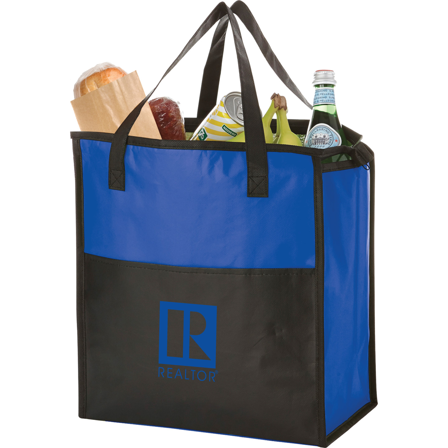 Insulated Grocery Zip Tote Canvas, Tote, Bag, Lunch, Gift, Store, Soda, Beer, Sport