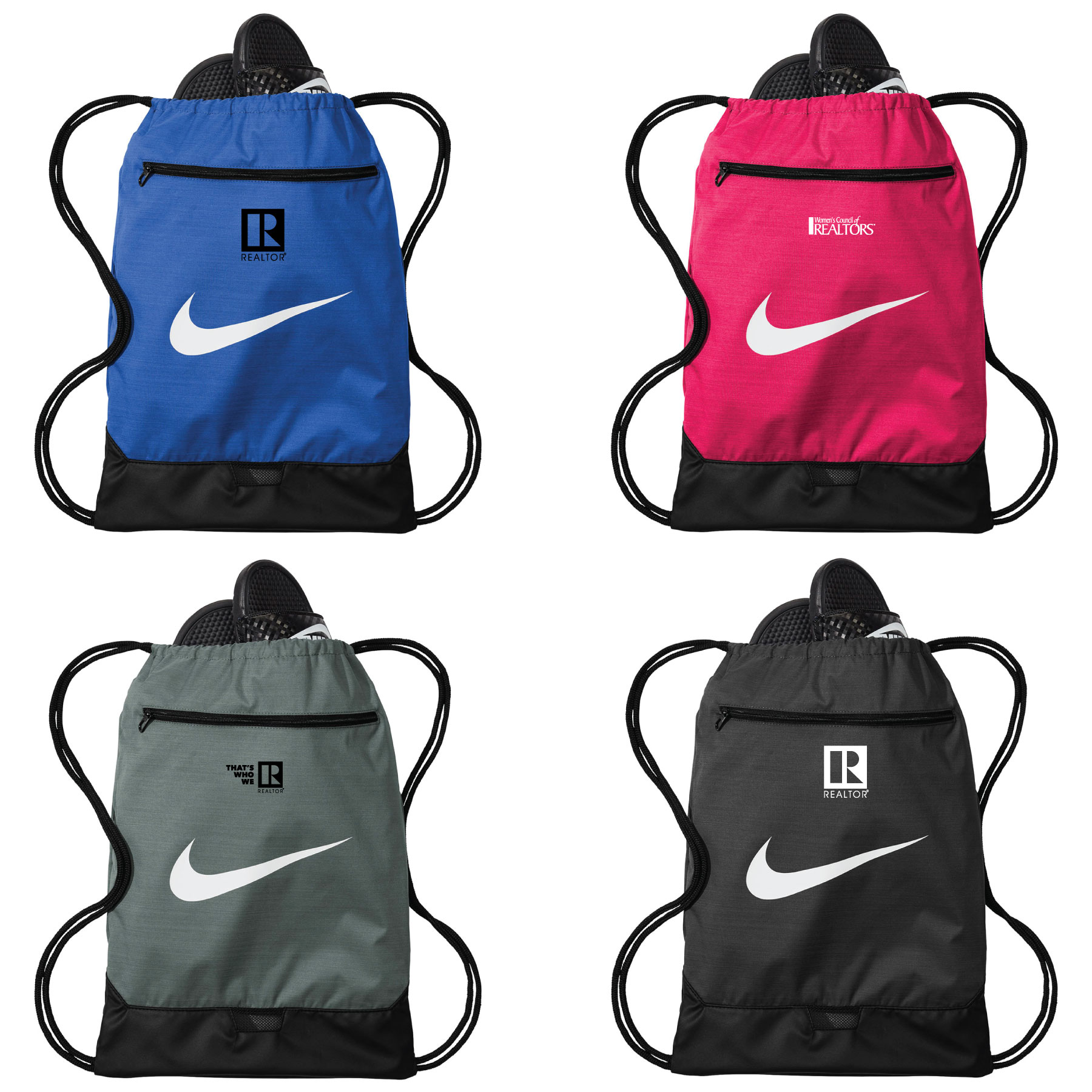 Brasilia Nike® Gym Sack Workout,Clothes,Socks,Shoes,Duffle,Duffel,Duff,Cord,Draw,String,Strings,Cords,Nikes