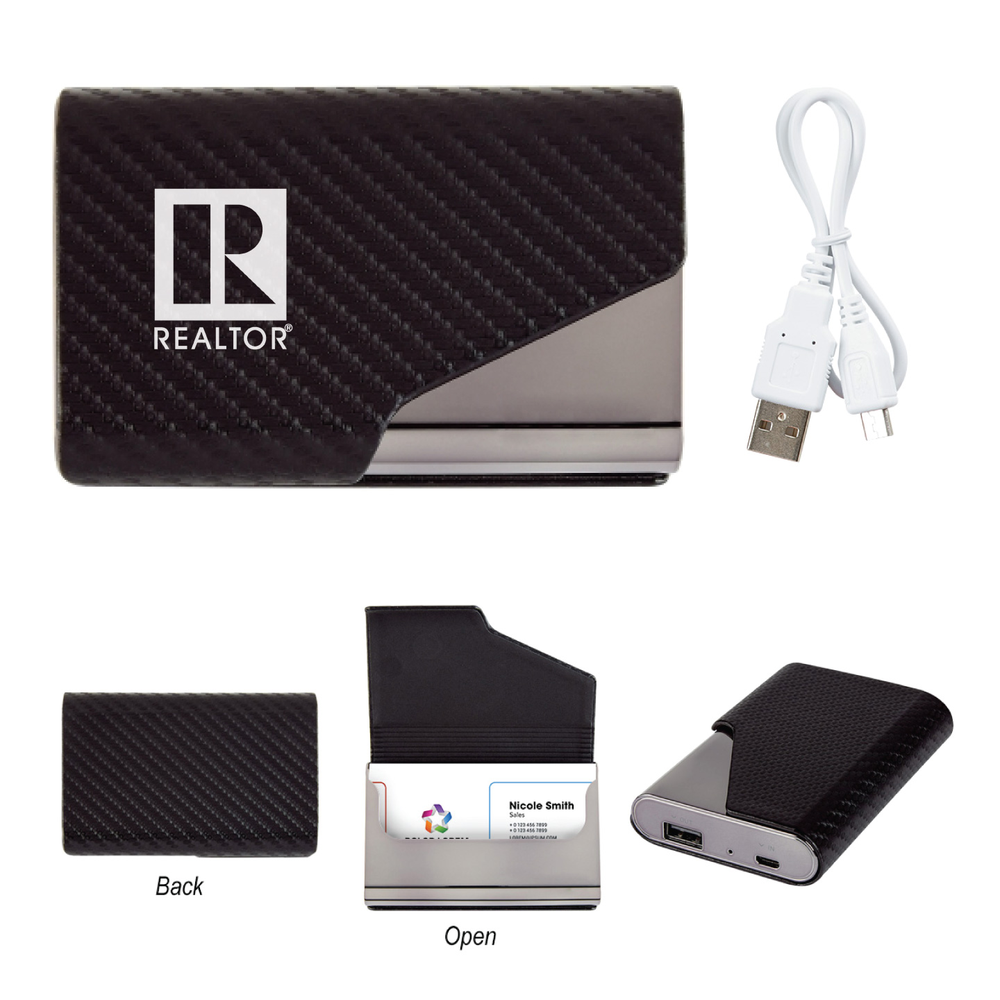 Power Bank Business Card Holder 2,500 mAh - RTS4740