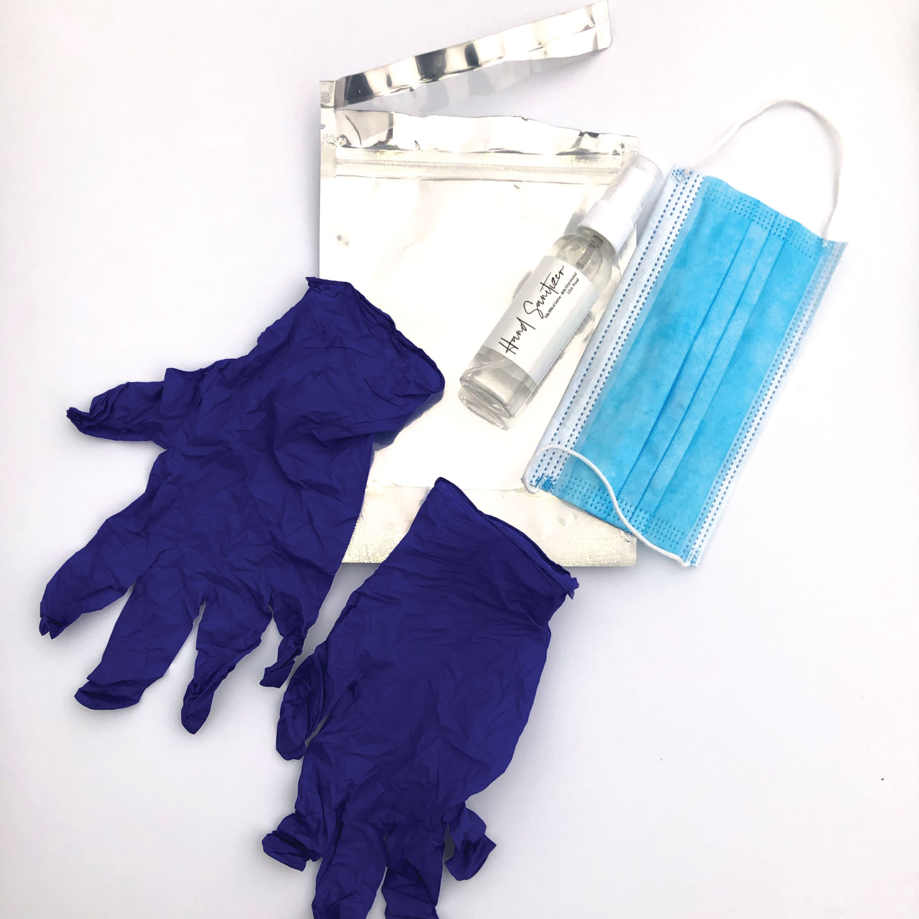 In Stock: PPE Pack with Logo (Gloves, Mask, Spray Sanitizer) - RTS4761