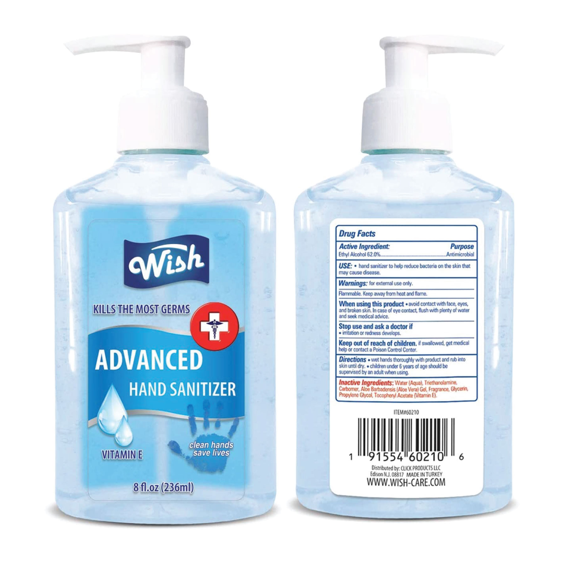 In Stock: Scented Pump Gel Sanitizer - 8 oz - RTS4779