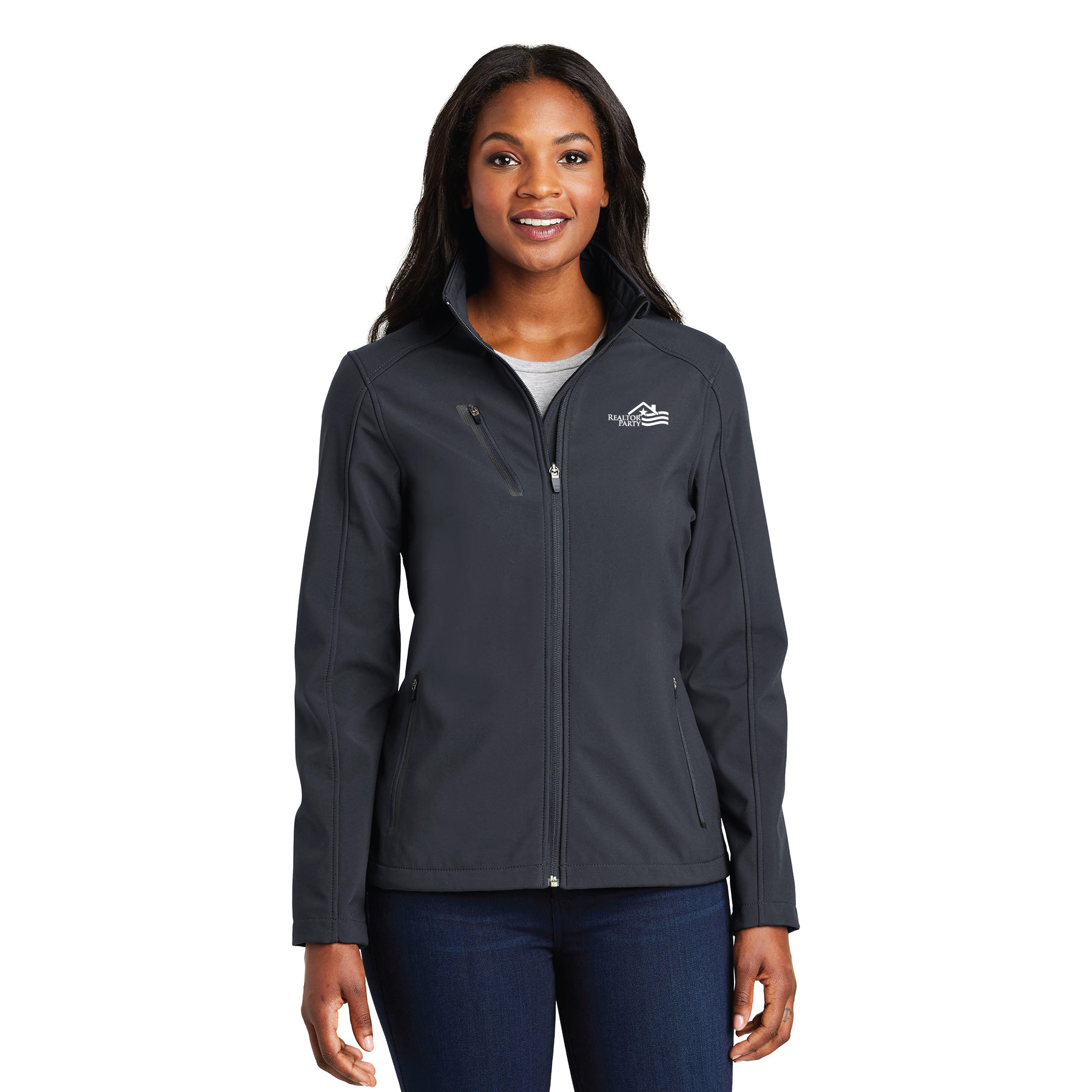 REALTOR® Party Ladies Welded Soft Shell Jacket ladies, welded, softs, shells, jackets,Parties