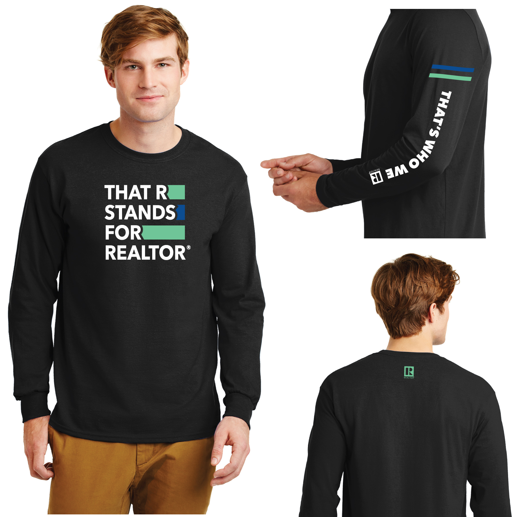 """That R Stands for REALTOR®"" Long Sleeve Value Tee Shirt TRSFR,twwr,ThatsWhoWeR,Thats,TWWR,ThatWho,ThatsWho,Twwr,Thats,Whos,We,Ares,Tees,T-shirt,Tee,Casual,Values,Tees,NewEra,Longs,Sleeves"