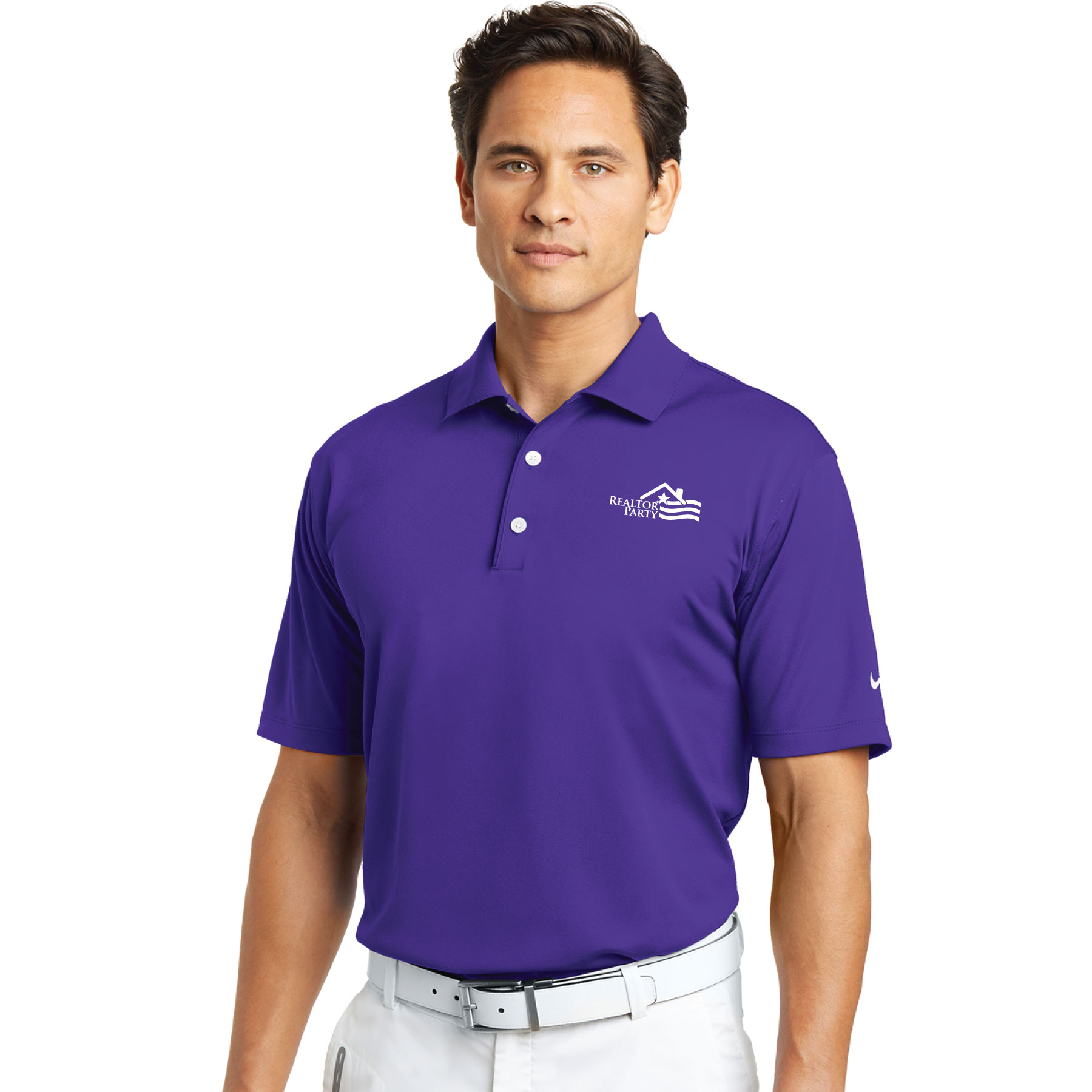 REALTOR® Party Nike® Tech Basic Dri-FIT® Polo Polos,Nikes,Swoshes,Golfs,Stripes,RP,RPAC,Parties,R.P.