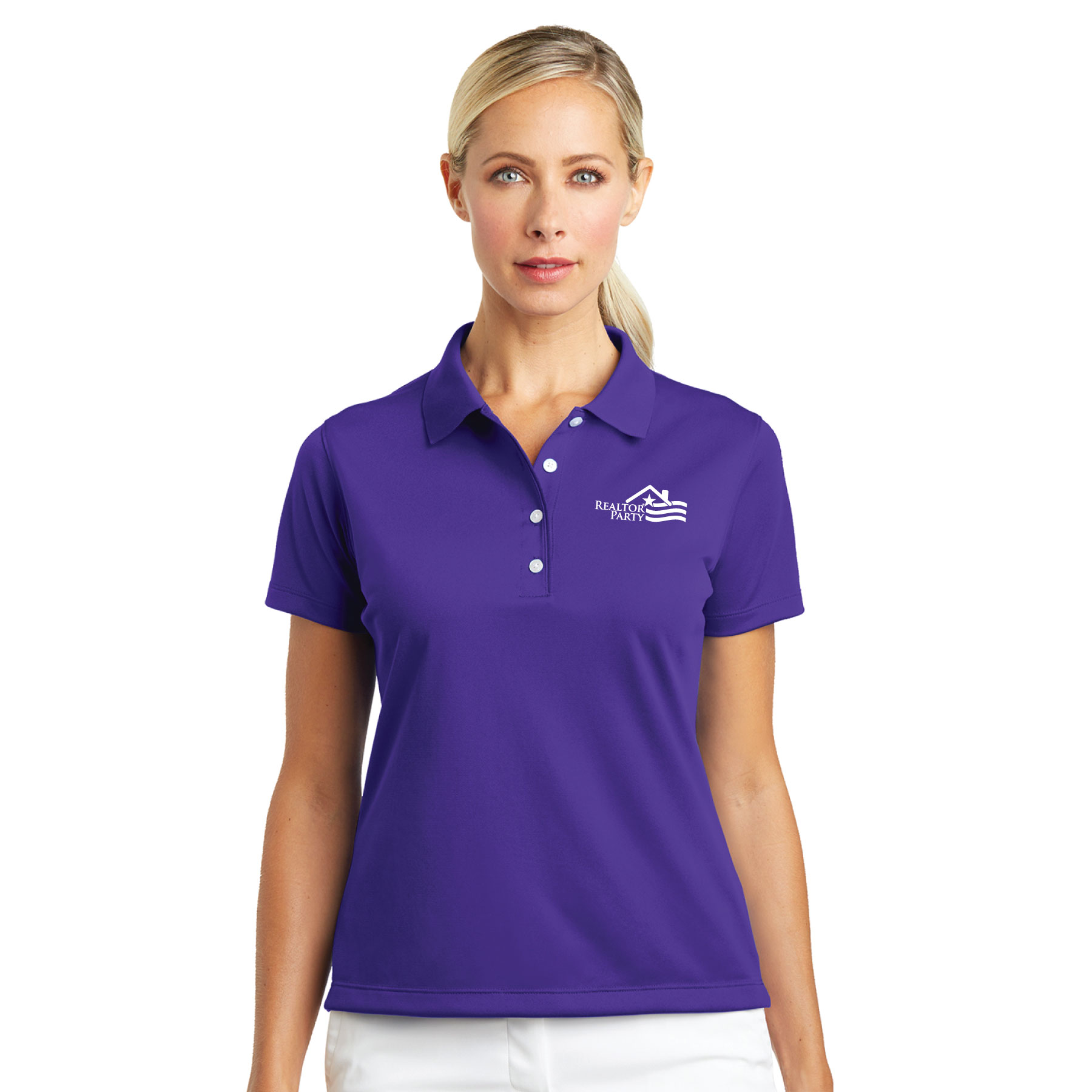 REALTOR® Party Ladies Nike® Tech Basic Dri-FIT® Polo Polos,Nikes,Swoshes,Golfs,Stripes,RP,RPAC,Parties,R.P.