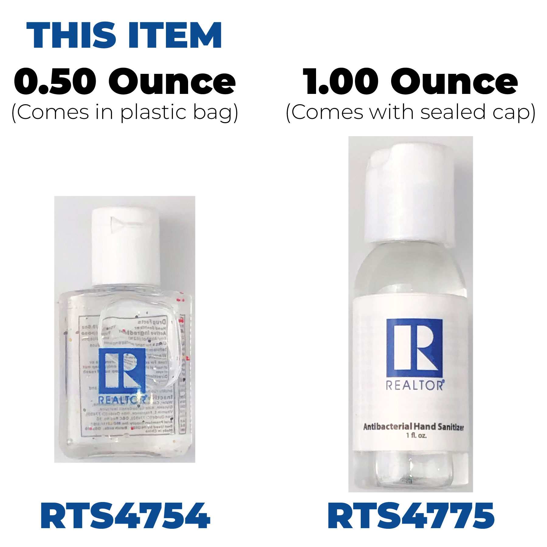 In Stock: 0.5 Oz Hand Sanitizer - RTS4754