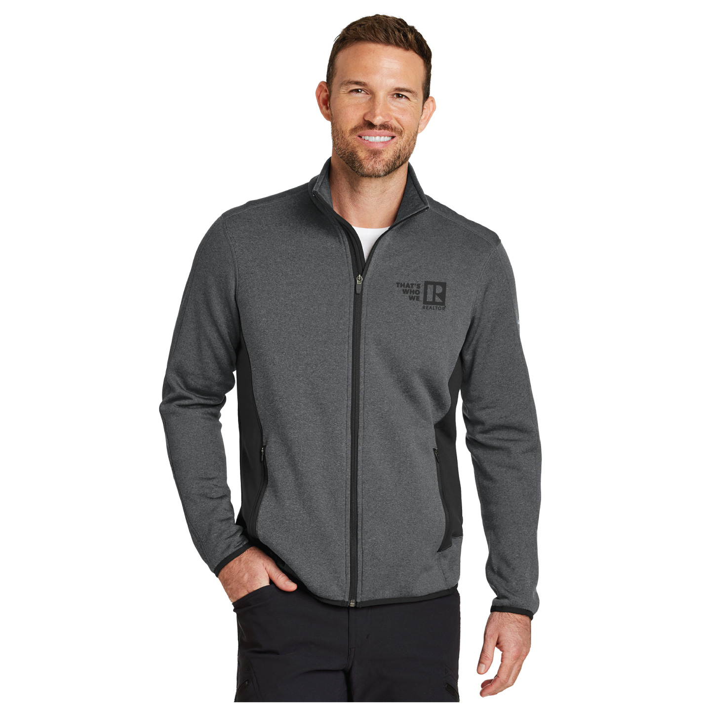"""That's Who We R"" Men's Eddie Bauer Fleece Jacket twwr,ThatsWhoWeR,That's,TWWR,ThatWho,That'sWho,Twwr,Thats,Whos,We,Ares,Jacket, Thats Who, Fleece, Brand, Warm, TWWR, Gift, President, Board, Store, Association,"
