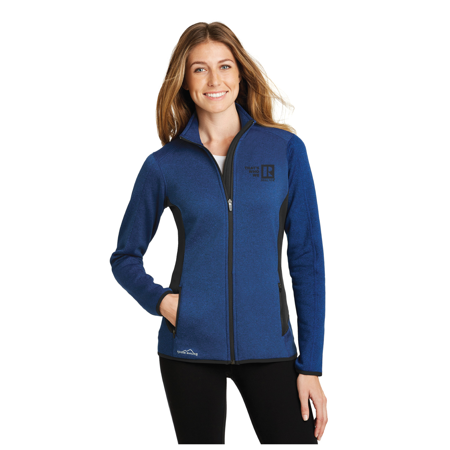 """That's Who We R"" Ladies Eddie Bauer Fleece Jacket  twwr,ThatsWhoWeR,That's,TWWR,ThatWho,That'sWho,Twwr,Thats,Whos,We,Ares,Jacket, Thats Who, Fleece, Brand, Warm, TWWR, Gift, President, Board, Store, Association,"