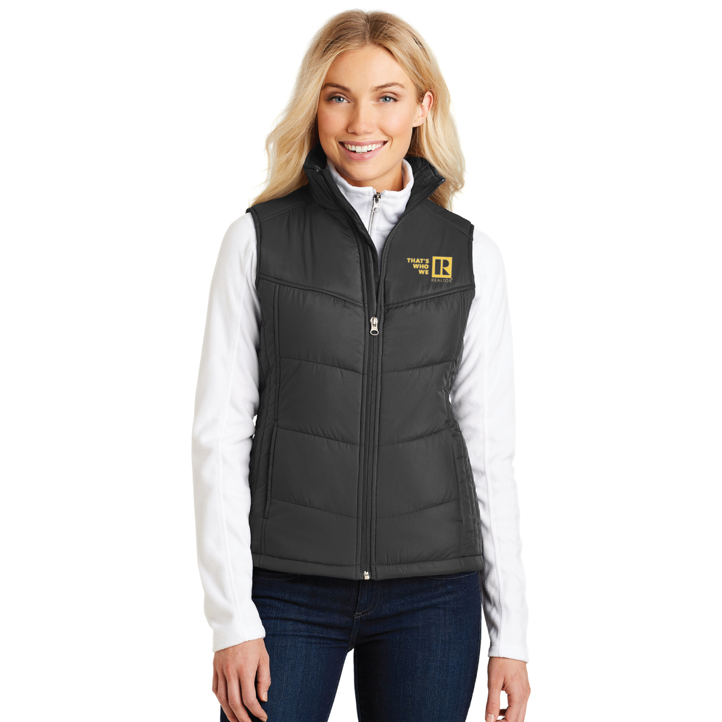 """Thats Who We R"" Ladies Puffy Vest twwr,ThatsWhoWeR,Thats,TWWR,ThatWho,ThatsWho,Twwr,Thats,Whos,We,Ares,Twwr,Thats,Whos,Wes,Ares,ladies,vests,Puffy,fluffy,winter,cold,fall,conference"