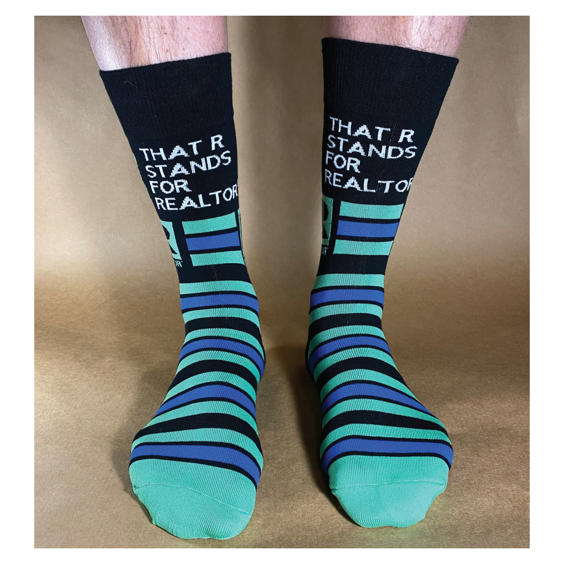 "Striped ""That's Who We R"" Socks - RTS4746"