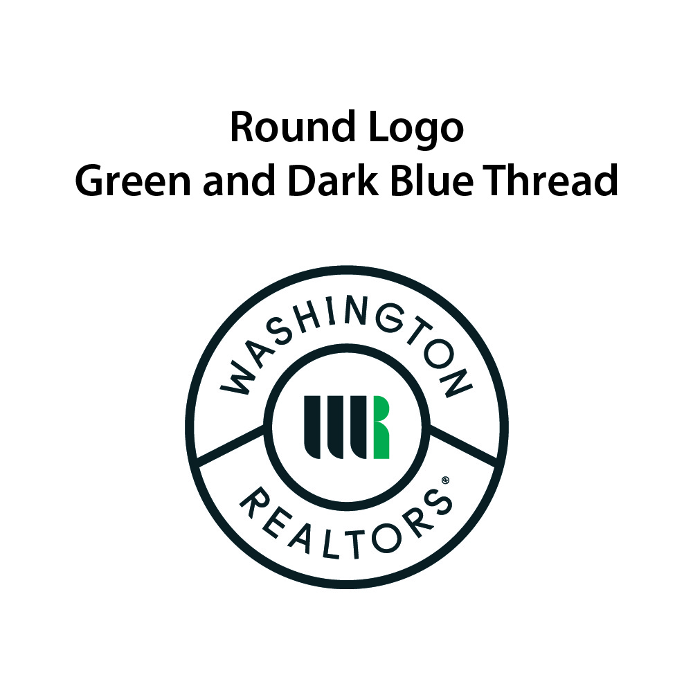 Round Logo - Green & Dark Blue Thread