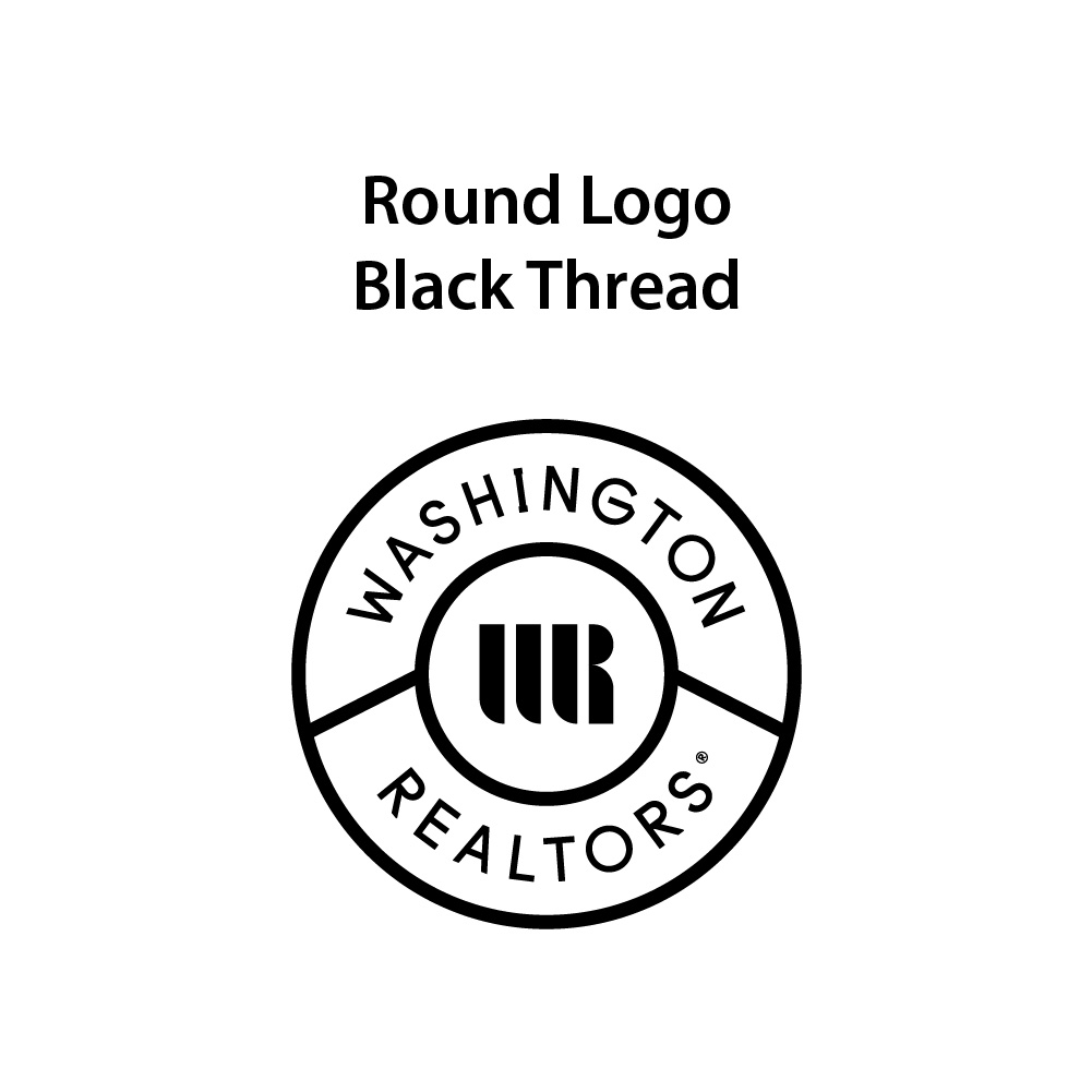 Round Logo - Black Thread