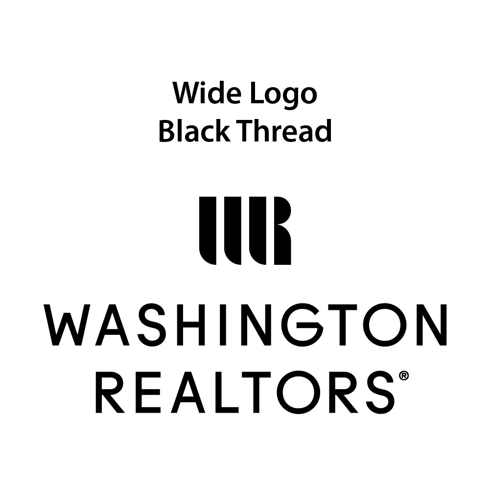 Wide Logo - Black Thread