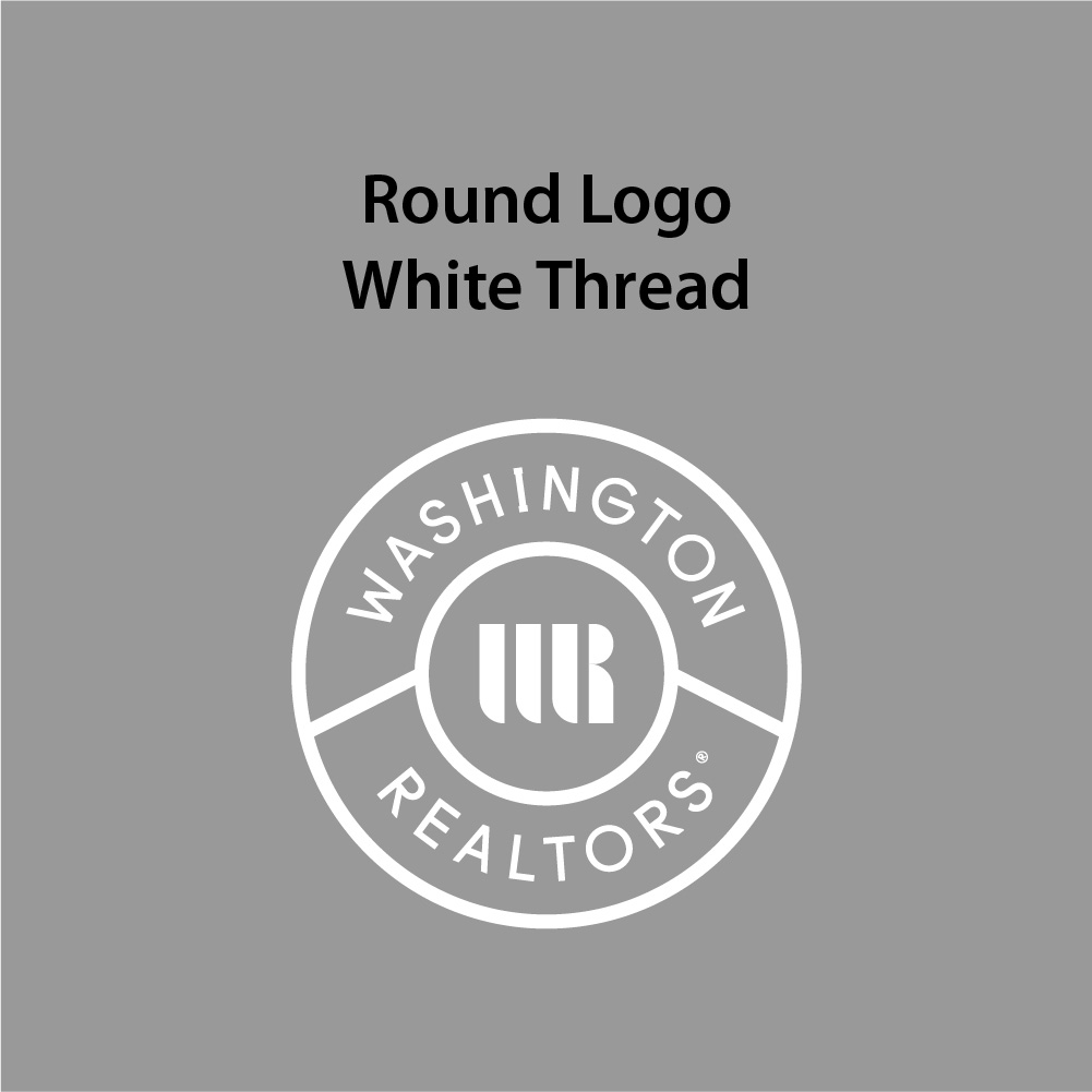 Round Logo - White Thread