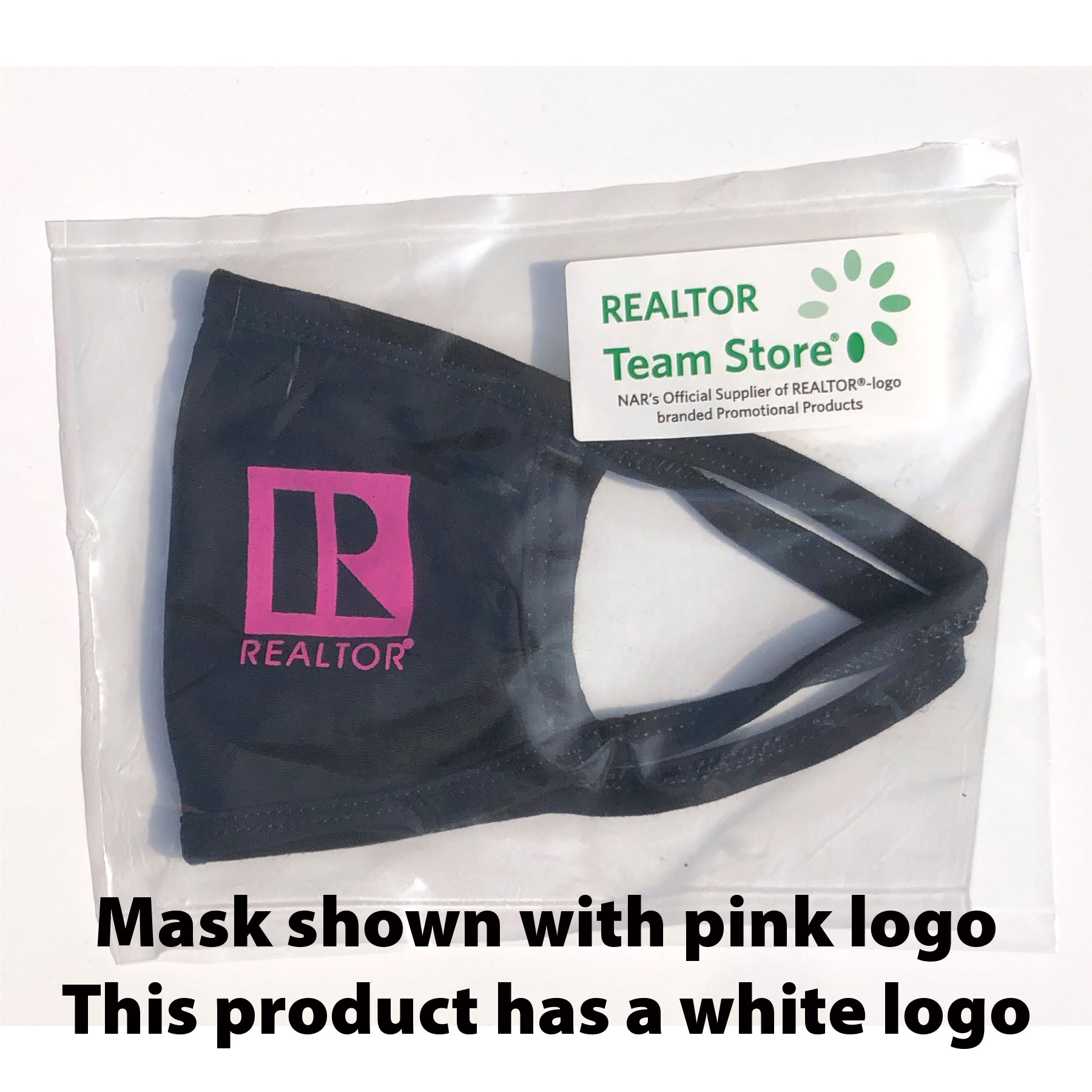 In Stock: 2 Layer White Logo Mask - RTS4791