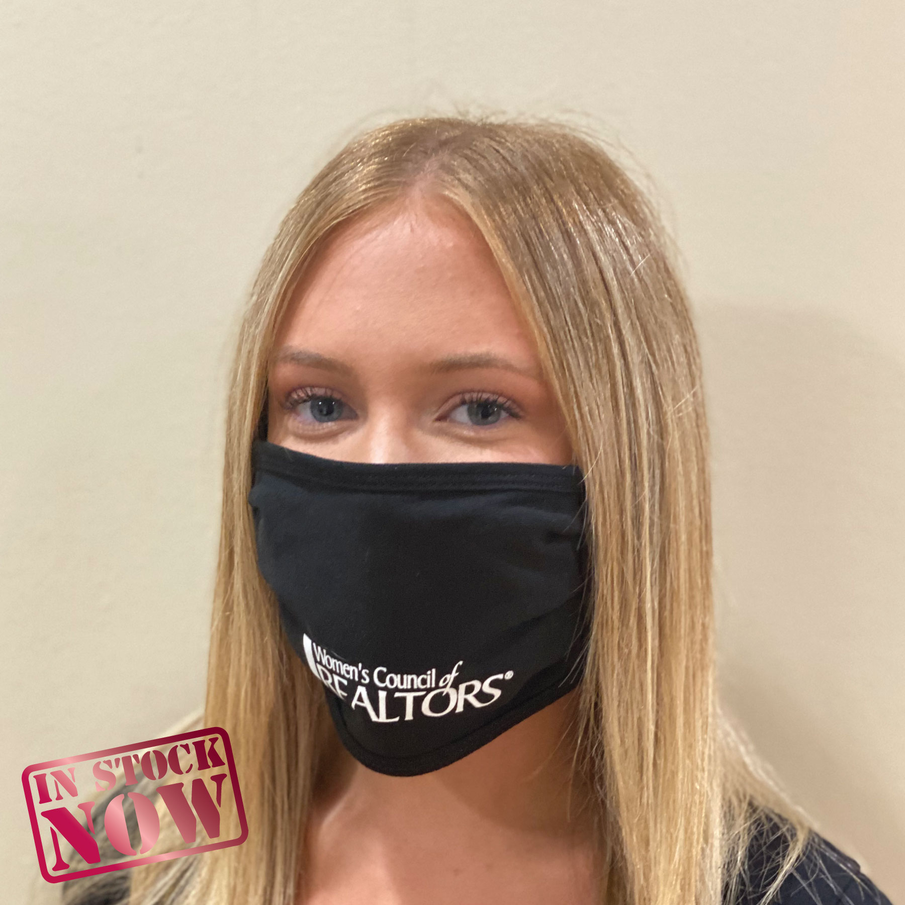 In Stock: 2 Layer Womens Council Logo Mask Faces,Masks,Shields,COVID,COVID-19,SARS,Virus,Viruses,Coughs,Safety,Rhinestones,Gems,Dance